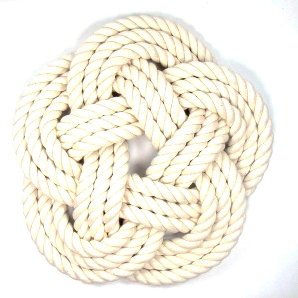 Sailors Knot Trivet-Large, White