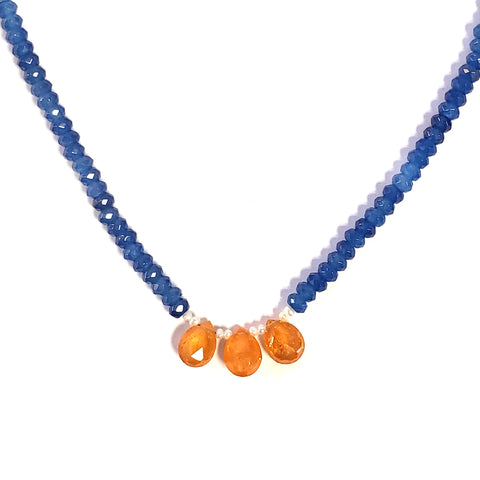 Apatite & Fire Opal Necklace