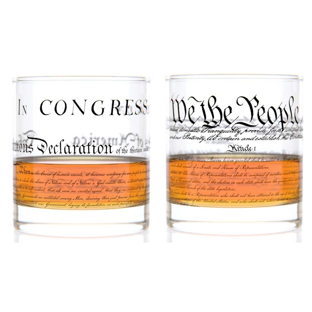 Constitution + Declaration Rocks Glass Set