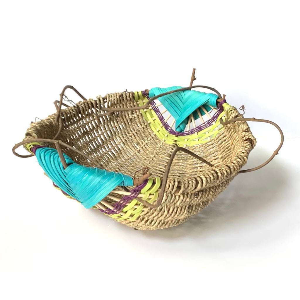 Free Form Basket-Aqua
