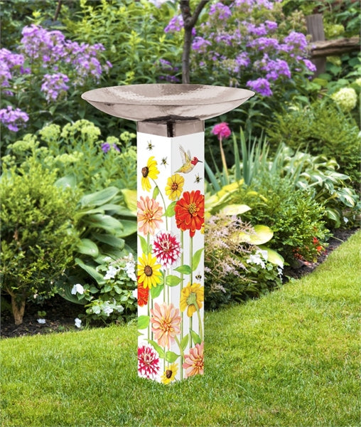 Art Pole Bird Bath-Birds & Bees