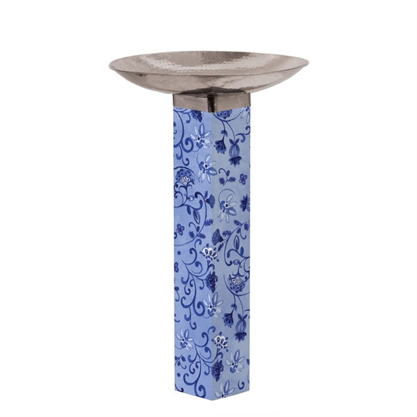Art Pole Bird Bath-Garden Blues