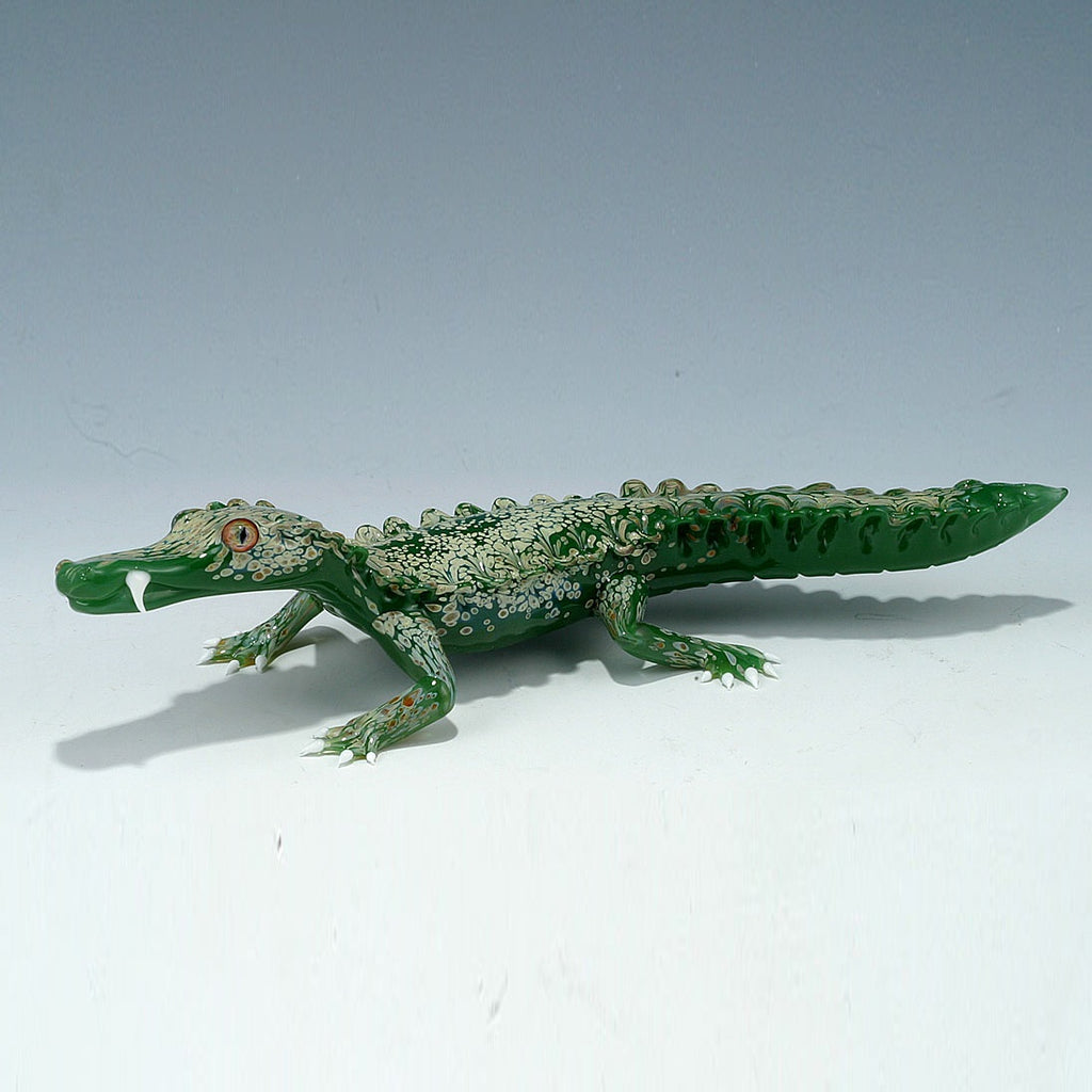 Glass Alligator-Green