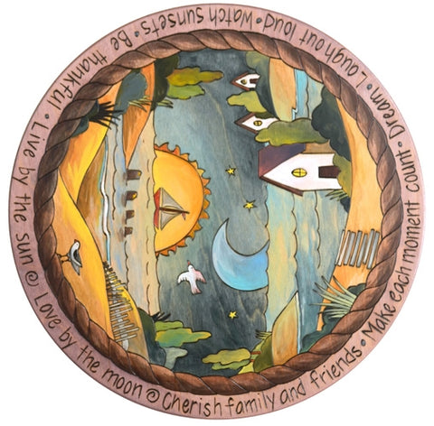 "Sticks Lazy Susan 20""-Lake Landscape"