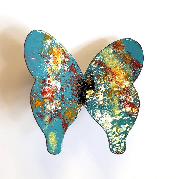 Copper Enamel Butterfly