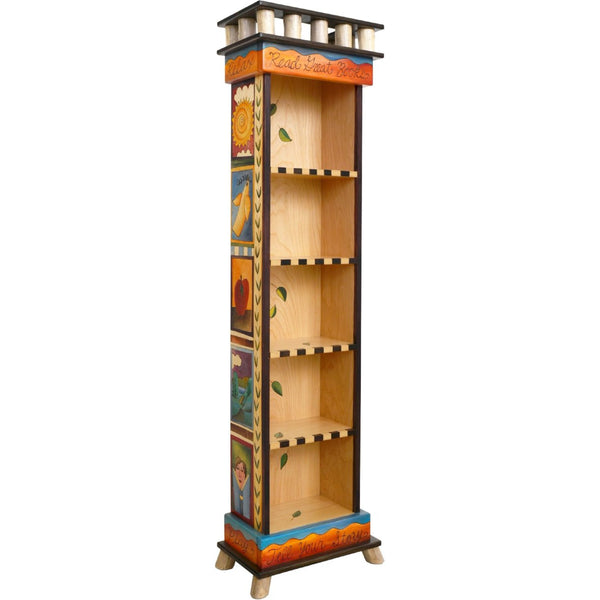 Tall Bookcase-Icon Blocks