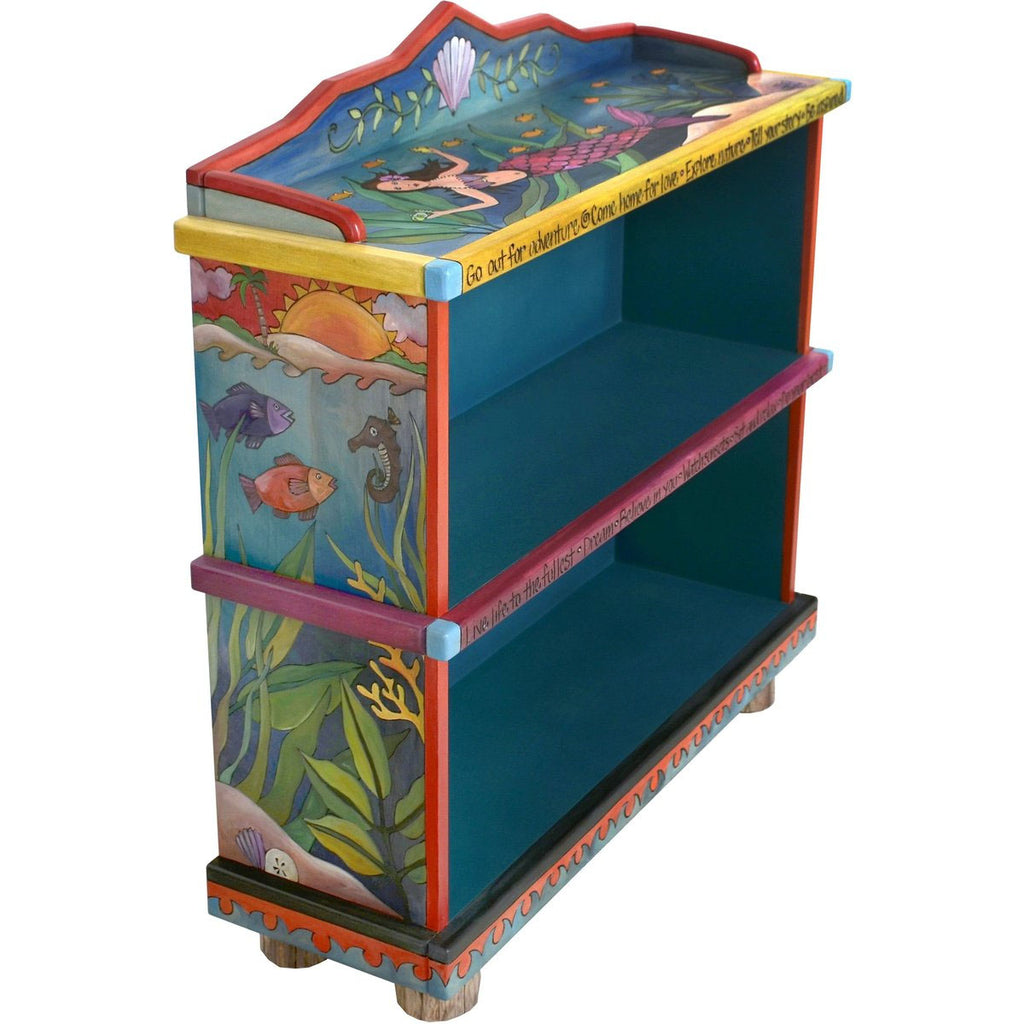 Short Bookcase-Mermaid