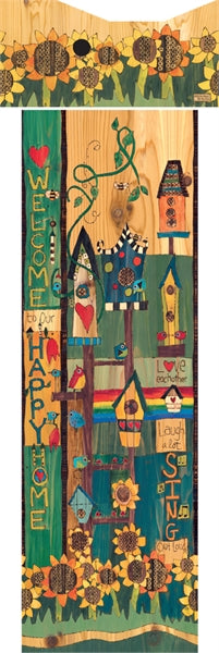 Birdhouse Art Pole-Sing Out Loud
