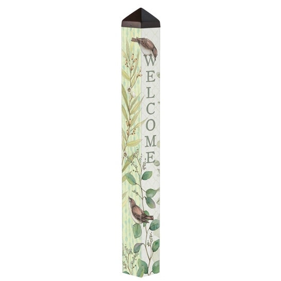 "Art Pole 40""-Eucalyptus Welcome"