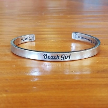 Pewter Beach Girl Cuff Bracelet