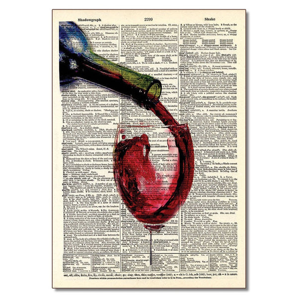 Red Wine Pour-Dictionary Art