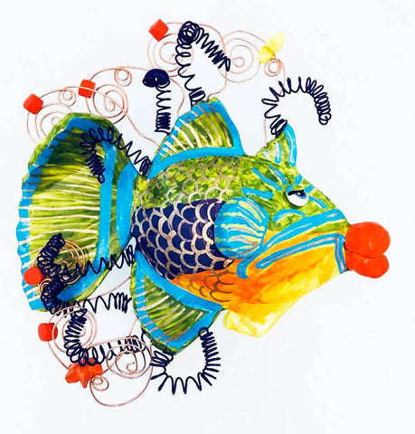 Fish Wall Sculpture - Queen Triggerfish