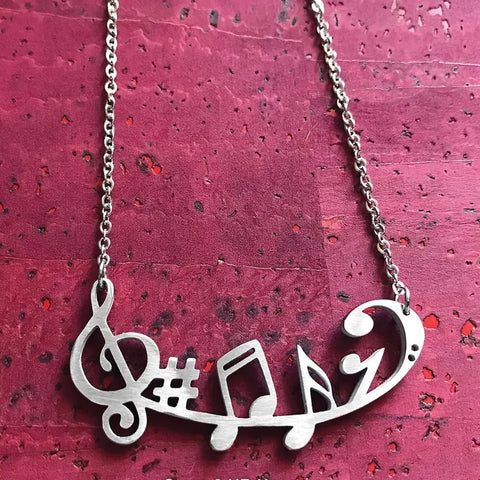 Music Symbols Necklace