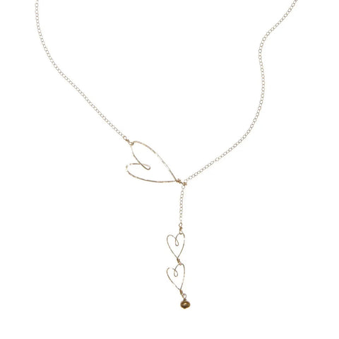 Sliding Heart Necklace-Silver/Gold