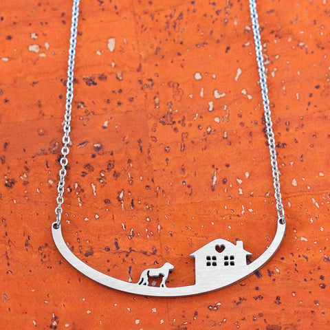Dog with Cat Necklace
