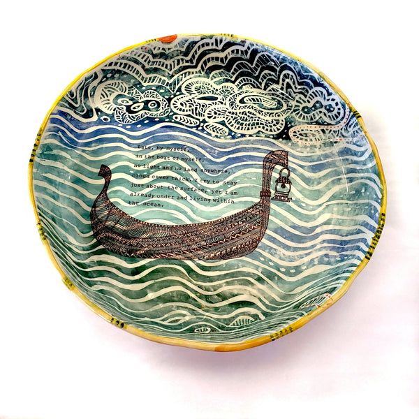 Rumi Boat Shallow Bowl