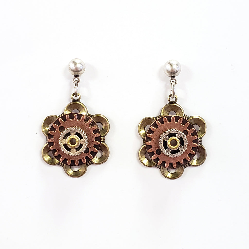 Industrial Flower Post Earrings