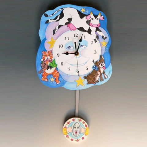 Cow Jumps Over the Moon Clock