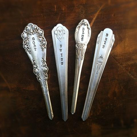 Cheese Marker-Vintage Spoon Handles