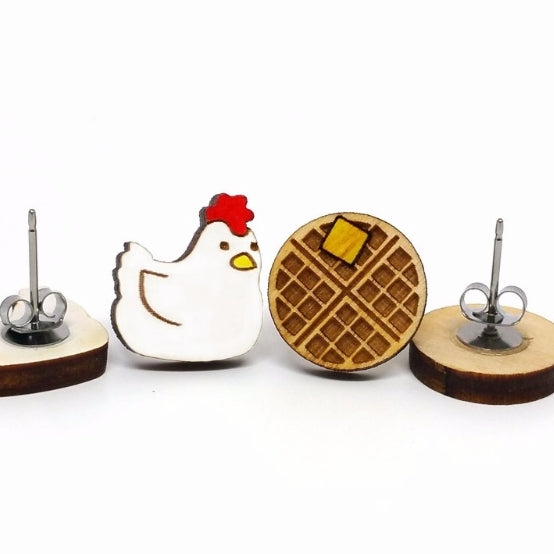 Chicken & Waffles Earrings