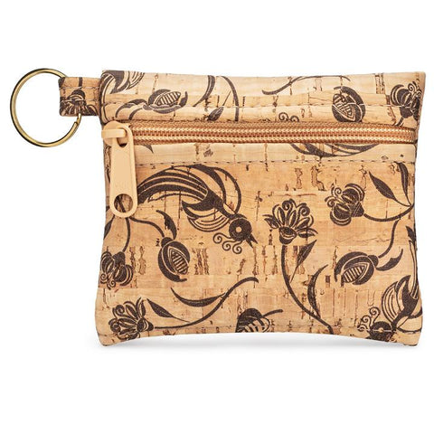 Cork Pouch Key Chain-Whistle Print