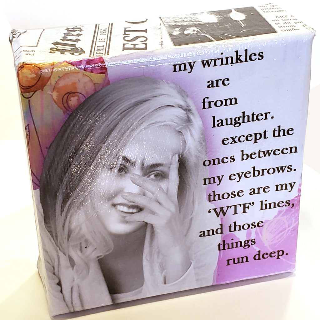 Mini Canvas-WTF Wrinkles
