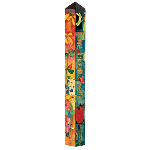 "Art Pole 40""-Love Garden"