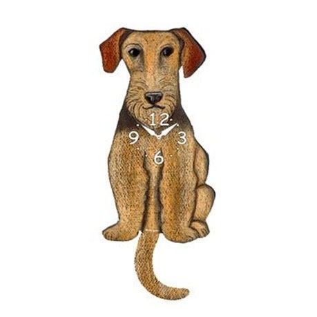 Tail Wagging Clock-Airedale