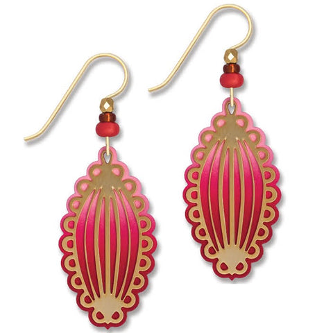 pink red gold earrings by adajio