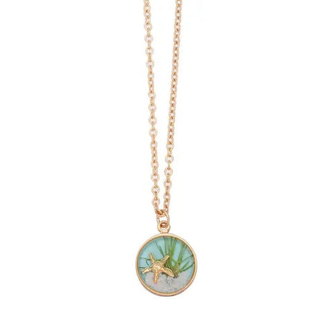 Sand Dune Necklace-Gold, Sm Round