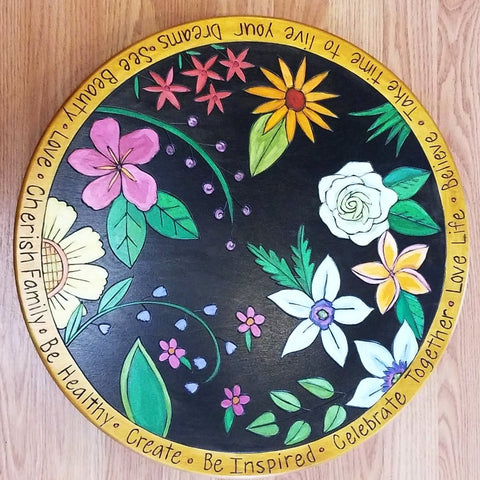 "Sticks Lazy Susan 20""-Tropical Flowers"