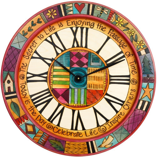 Md. Round Wall Clock-Patchwork