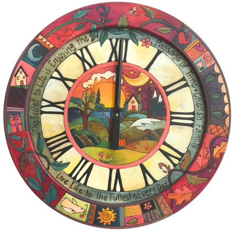 Md. Round Wall Clock-Landscape