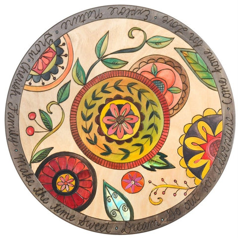 "Lazy Susan 20""-Contemporary Floral Medallion"