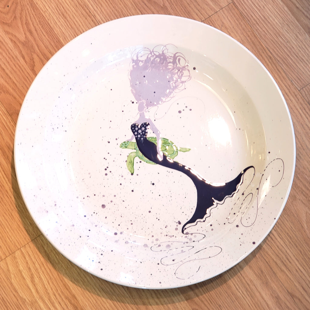 Platter-Mermaid (Side) & Turtle