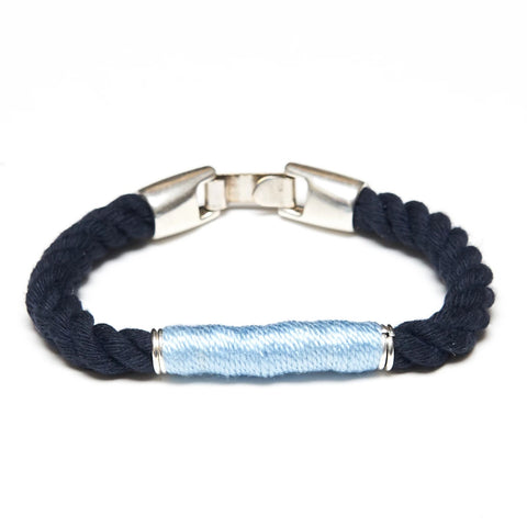 Beacon Rope Bracelet - Navy/Light Blue