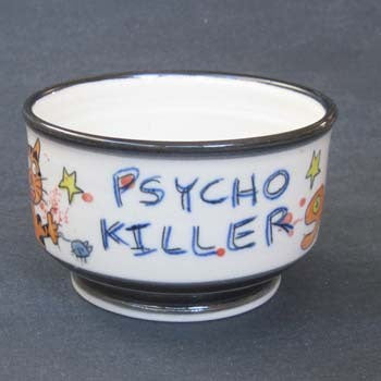 Psycho Killer Cat Bowl