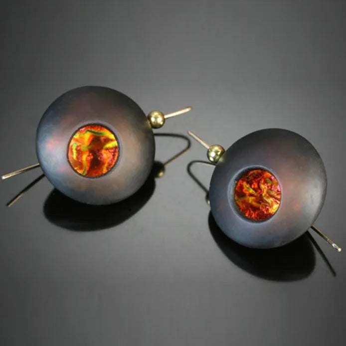 Lava Orb Earrings