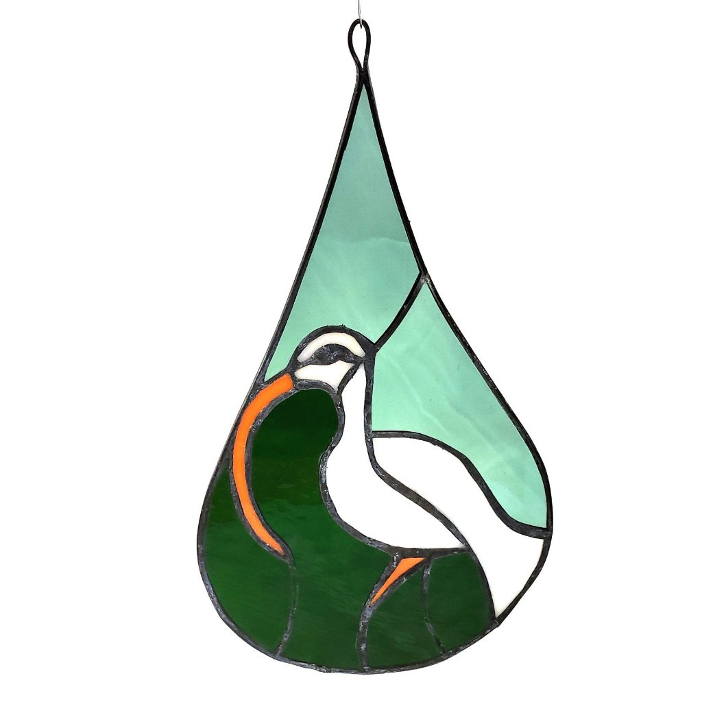 Stained Glass Teardrop-Ibis