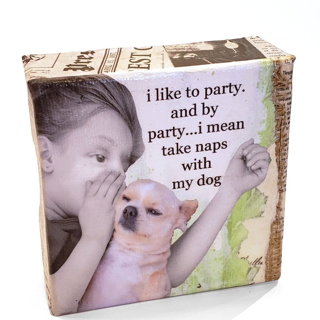 Mini Canvas-Naps With My Dog