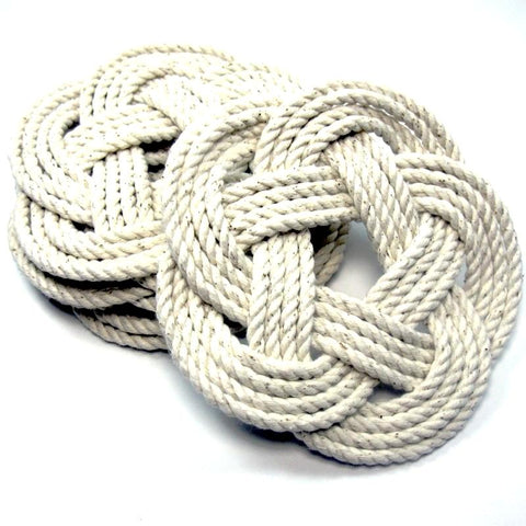 Sailor Knot Coasters-White