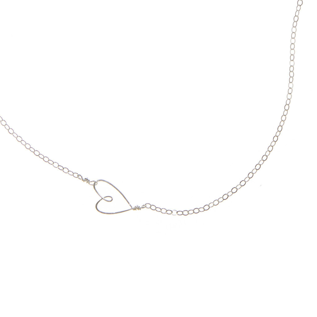 Tiny Heart Necklace-Silver