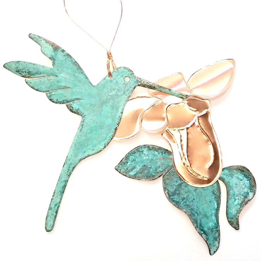 Copper Ornament-Hummingbird