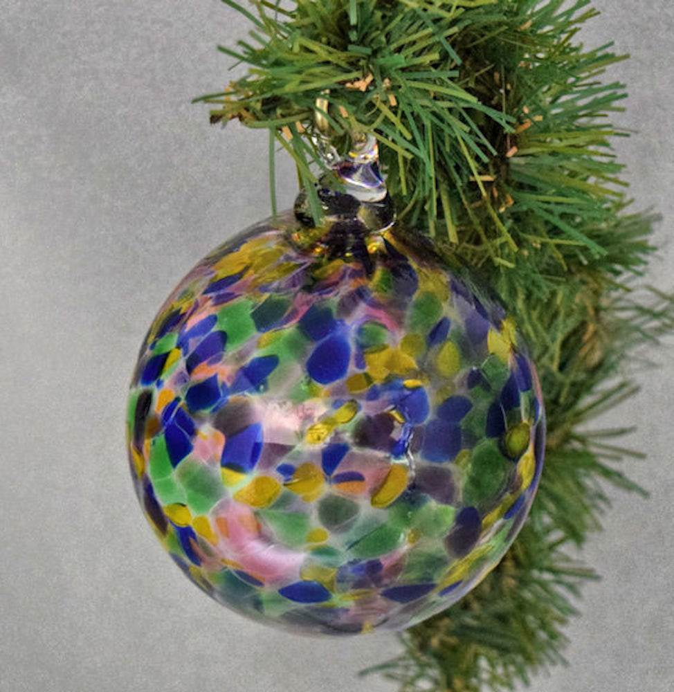 Blown Glass Ornament-Kaleidoscope