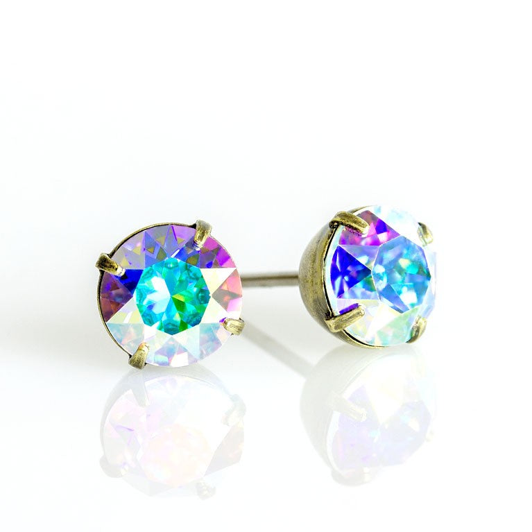 Crystal AB Post Earrings