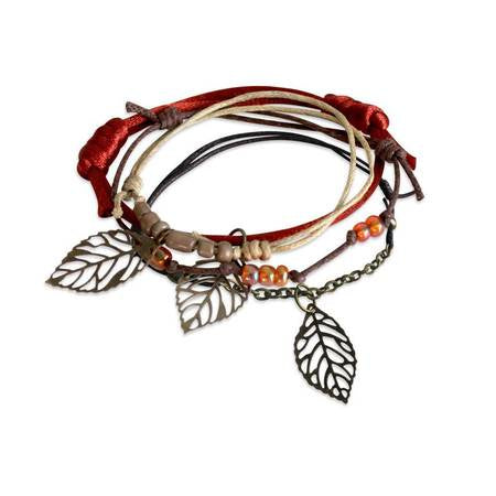 Charm Bracelet Set-Autumn Leaves
