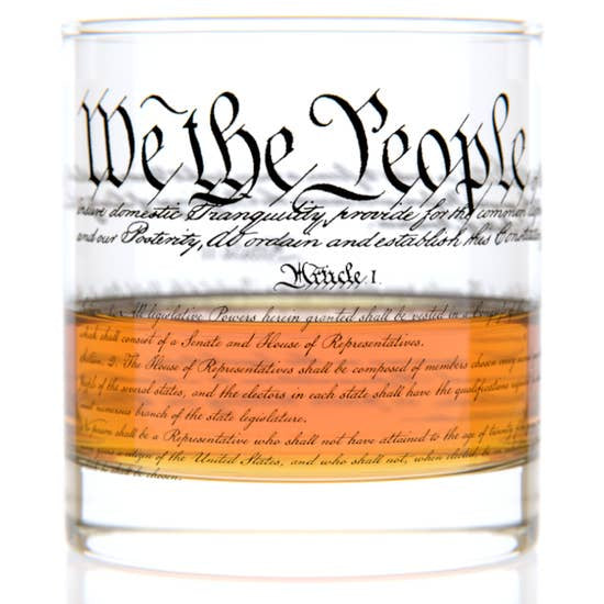 US Constitution Rocks Glass