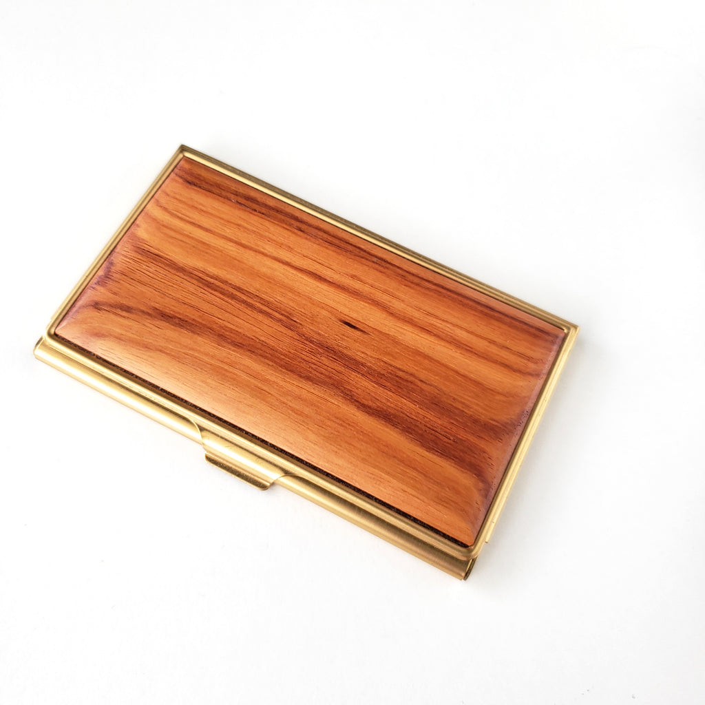 Business Card Case-Tulipwood