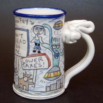 Tea Party Space Monster Mug