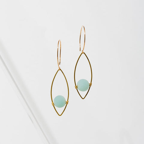 Georgia Earrings-Amazonite